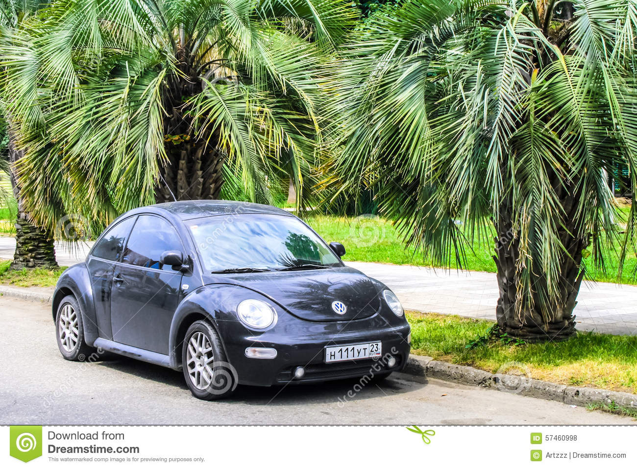 vw volkswagen beetle elegant car prked in city editorial photo 86122259. Black Bedroom Furniture Sets. Home Design Ideas