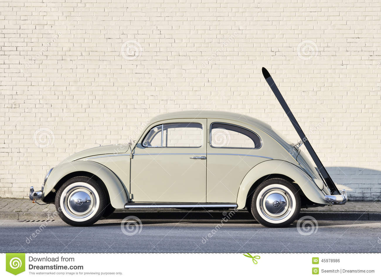 Volkswagen Beetle Vintage Car Parked In A Street Editorial Photo