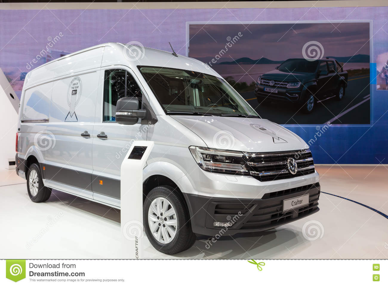 Volkswagen Crafter Van editorial photography  Image of exhibition