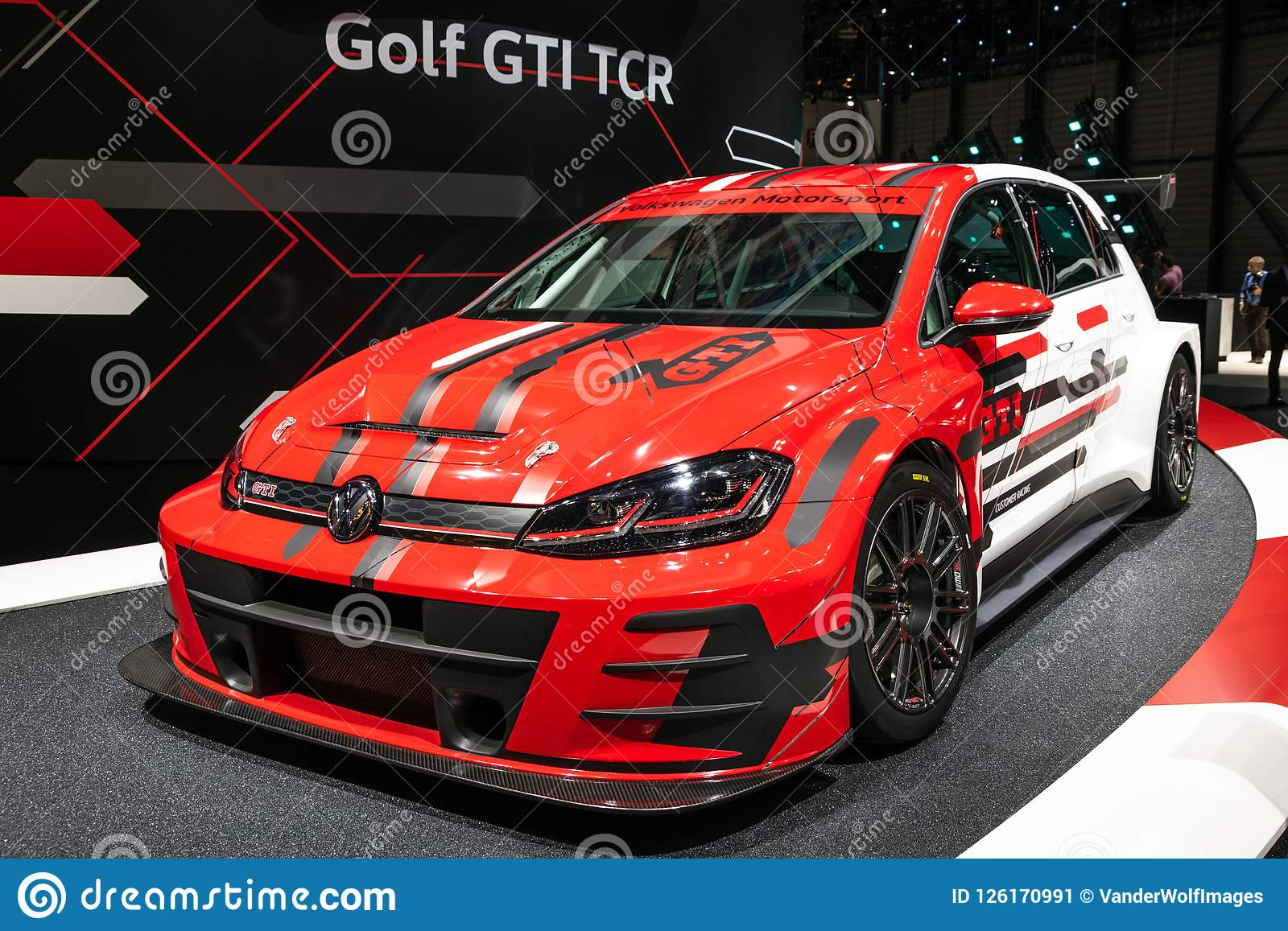 Volkswagen Golf Gti Tcr Sports Car Editorial Photo Image Of Modern White 126170991