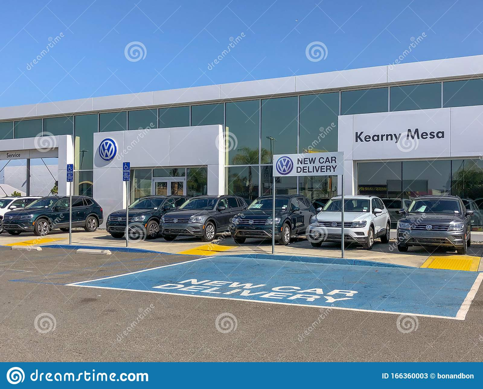 volkswagen group dealership and service in san diego editorial stock photo image of brand automobile 166360003 dreamstime com