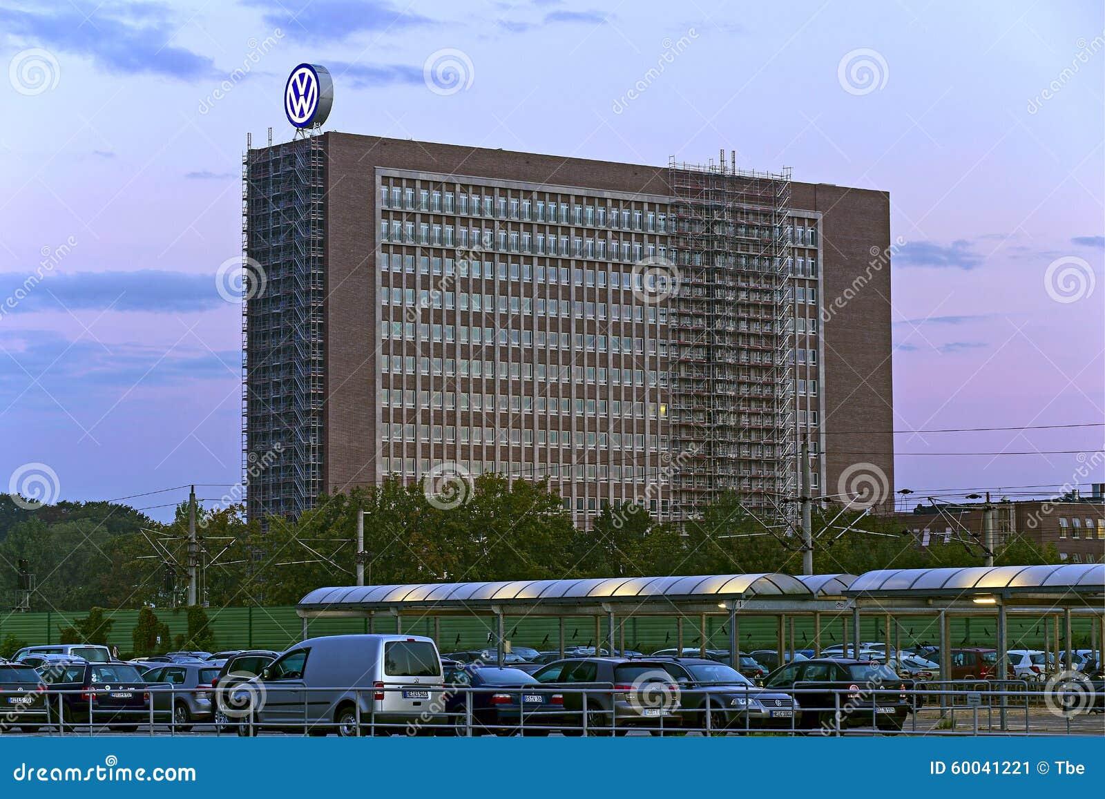 Volkswagen Headquarter editorial photo. Image of global - 60041221