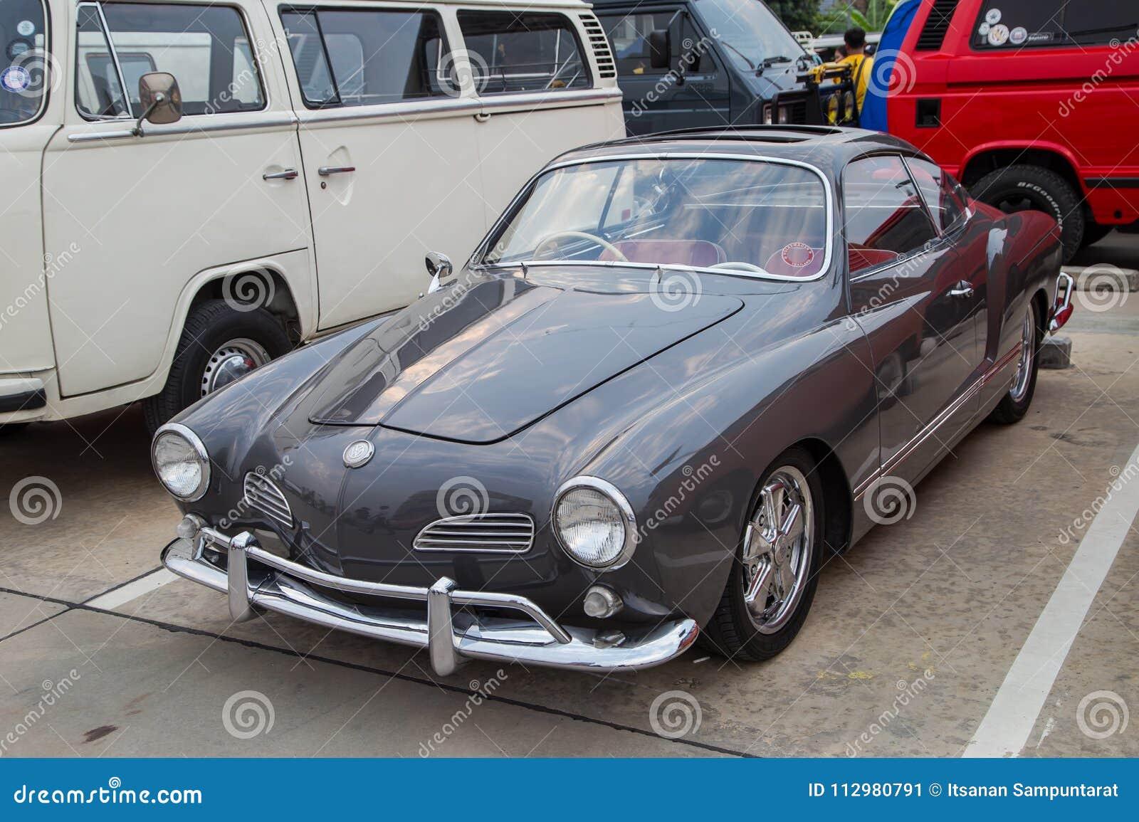 Volkswagen Karmann Ghia show in VW club meeting