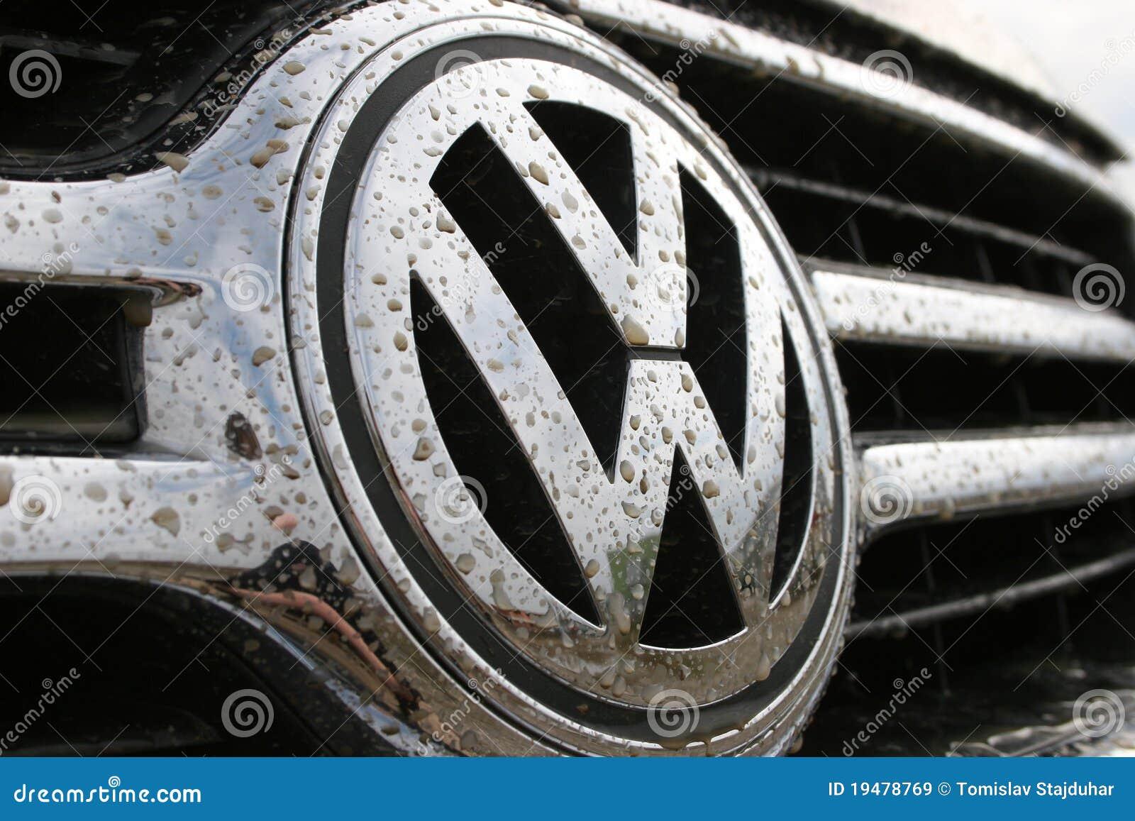 Volkswagen Logo In Dirt Editorial Stock Image Image
