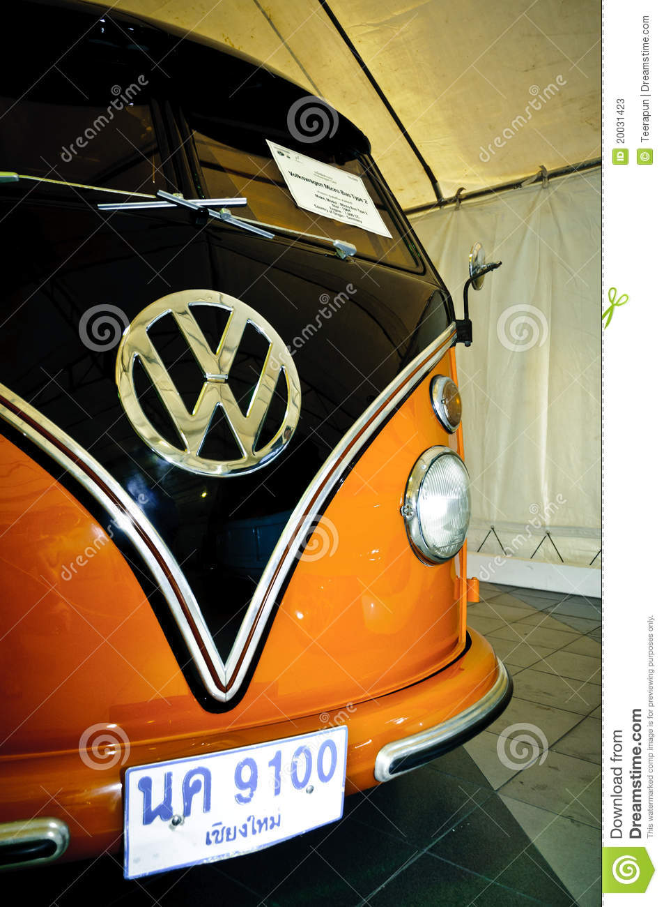 PATHUM THANI,THAILAND-JUNE 23: a Volkswagen Micro Bus Type 2 on
