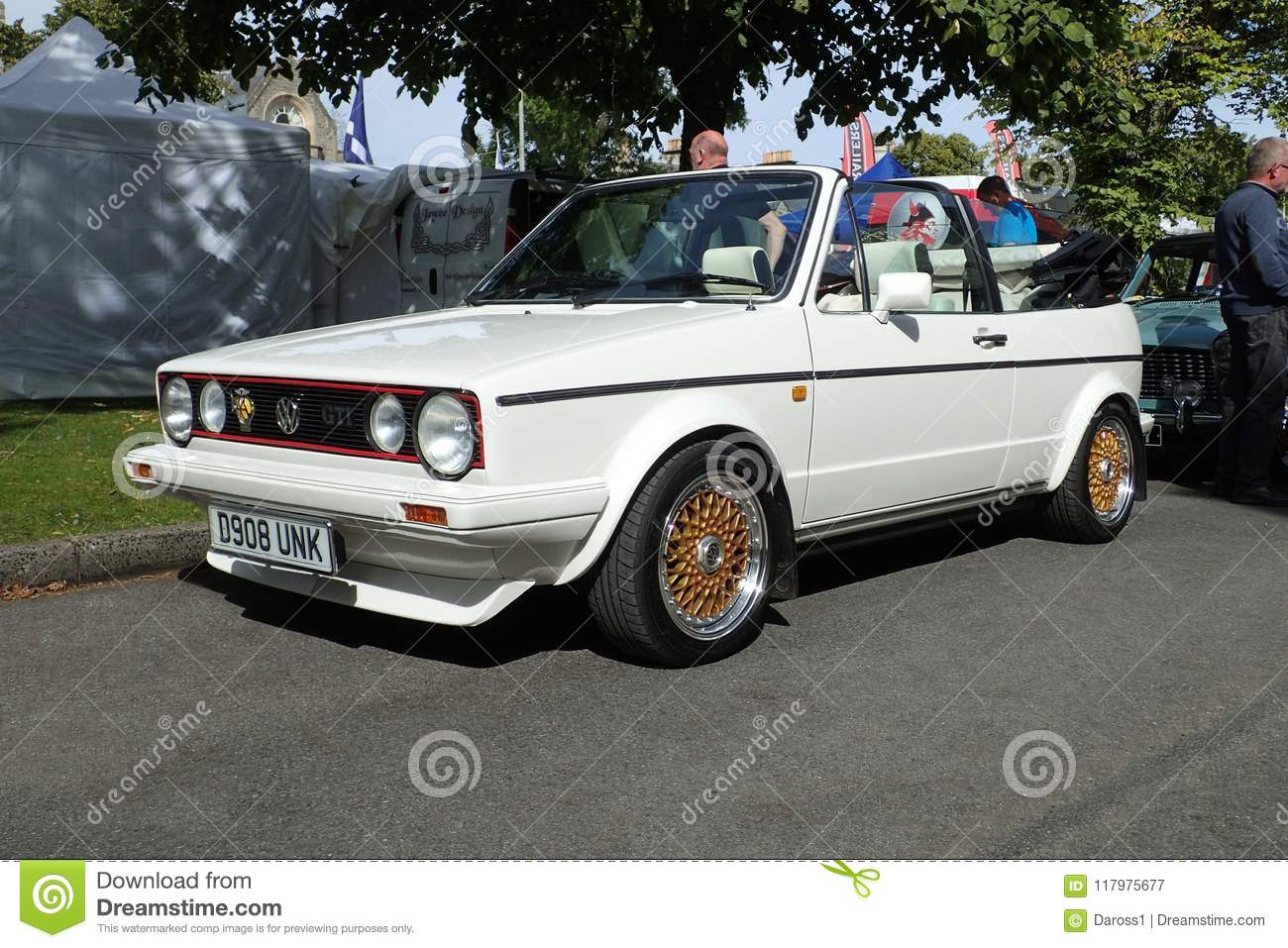vw mk1 golf cabriolet gti in alpine white editorial photography image of volkswagen. Black Bedroom Furniture Sets. Home Design Ideas