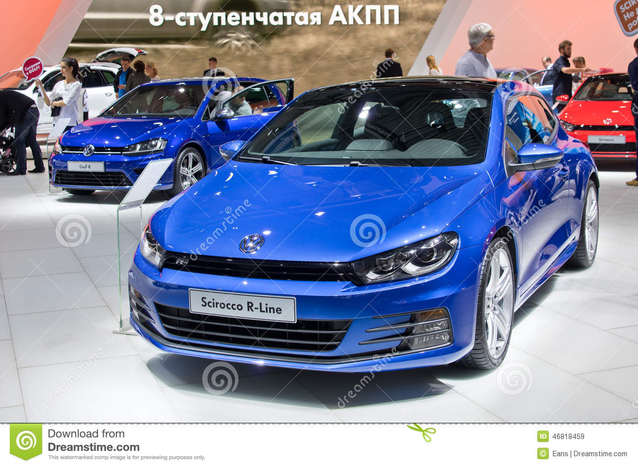 volkswagen scirocco r line redaktionelles stockbild bild von automobil 46818459. Black Bedroom Furniture Sets. Home Design Ideas