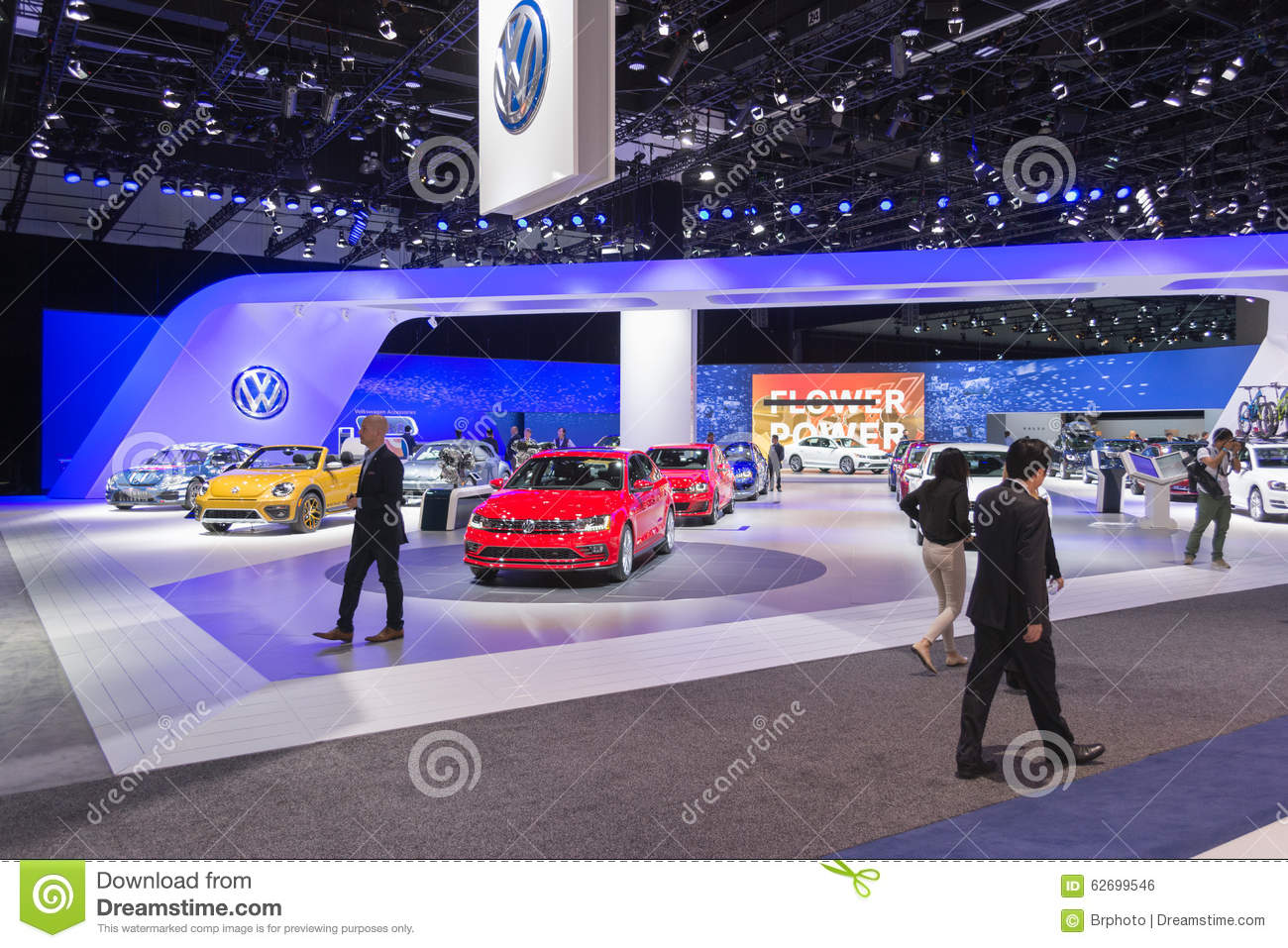Volkswagen stand on display editorial photo image 62699546 for Dream motors los angeles