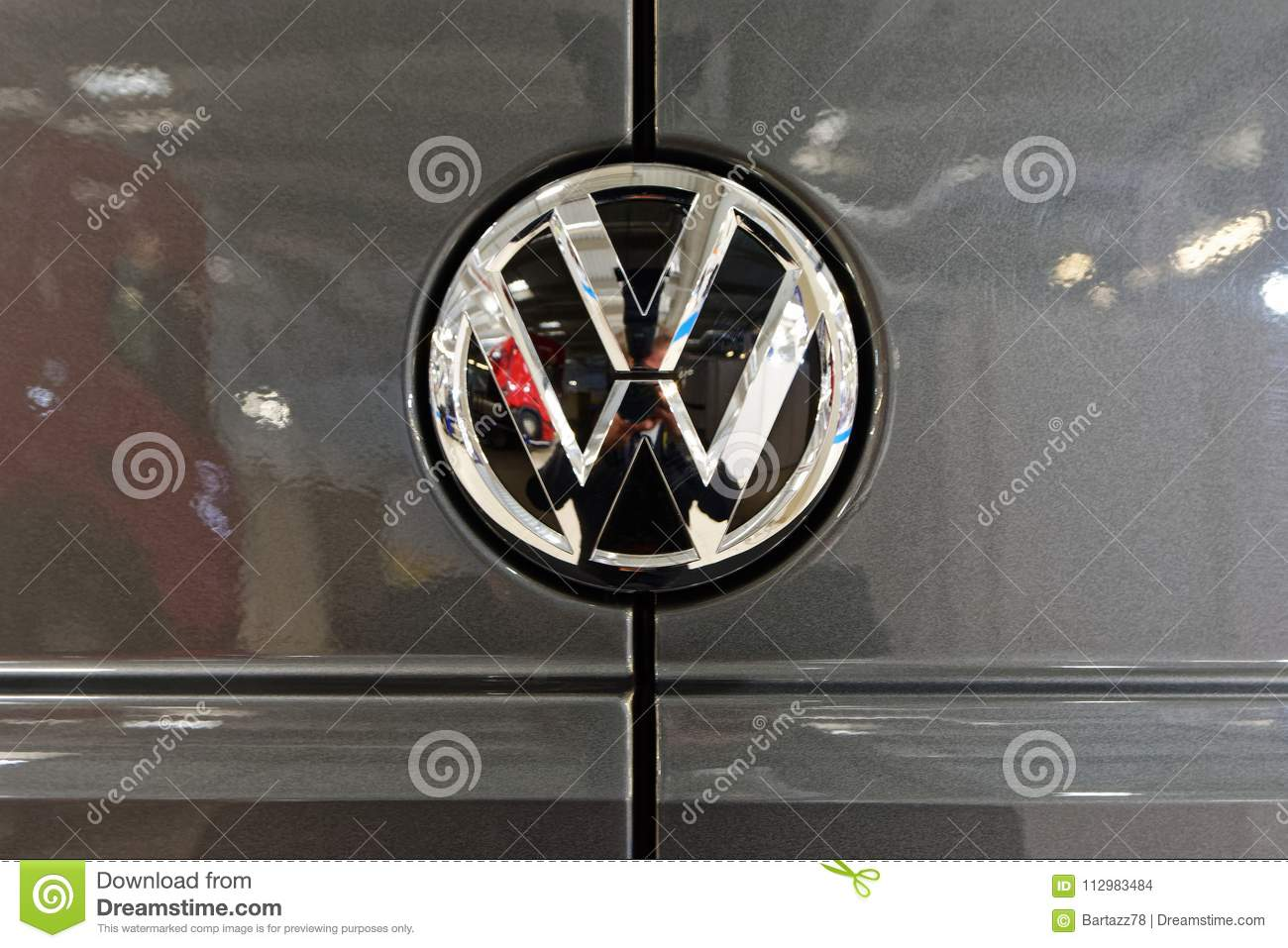 Volkswagen stylish logo and shiny badge