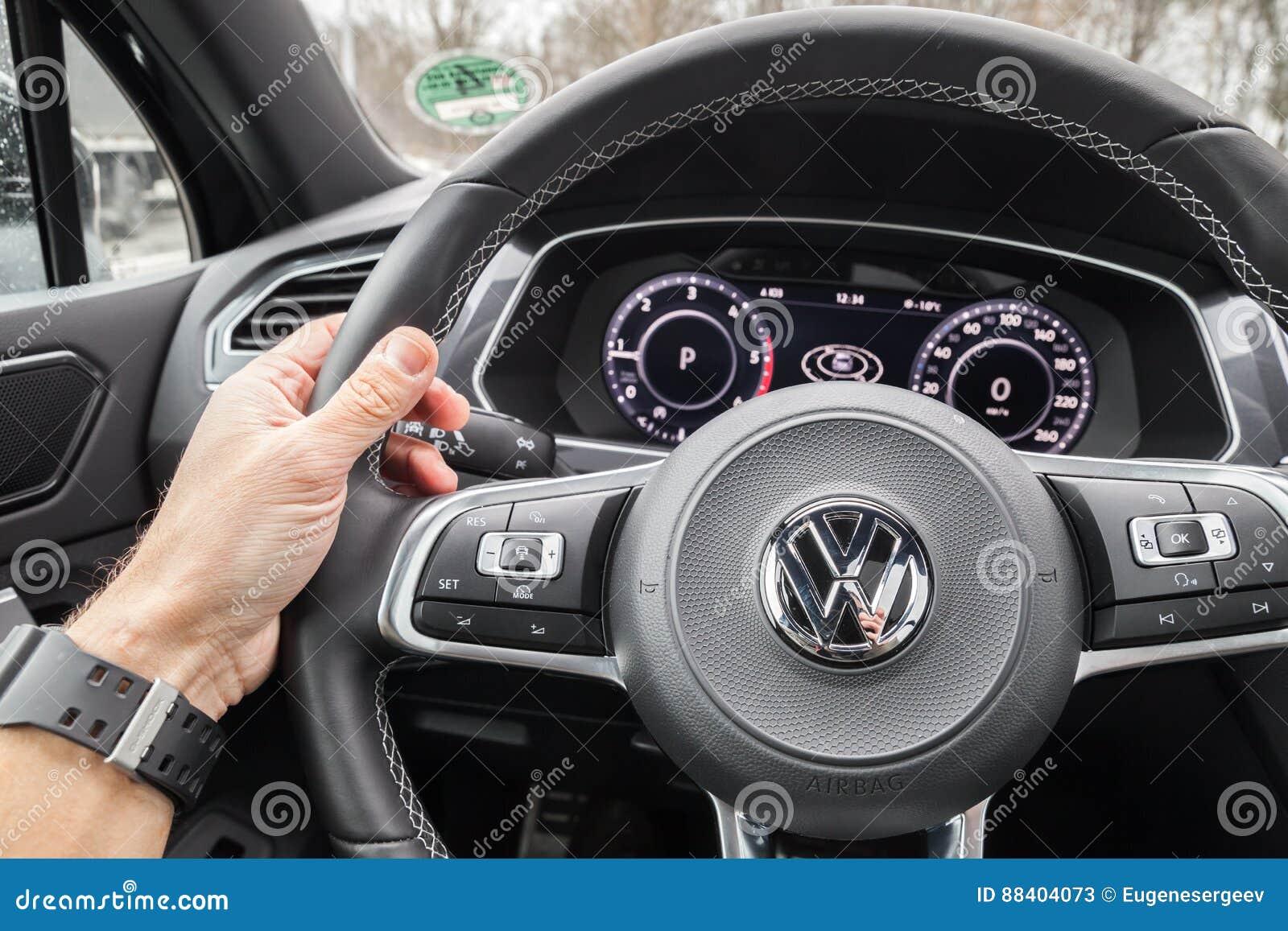 Volkswagen Tiguan 2017 Steering Wheel Editorial Stock