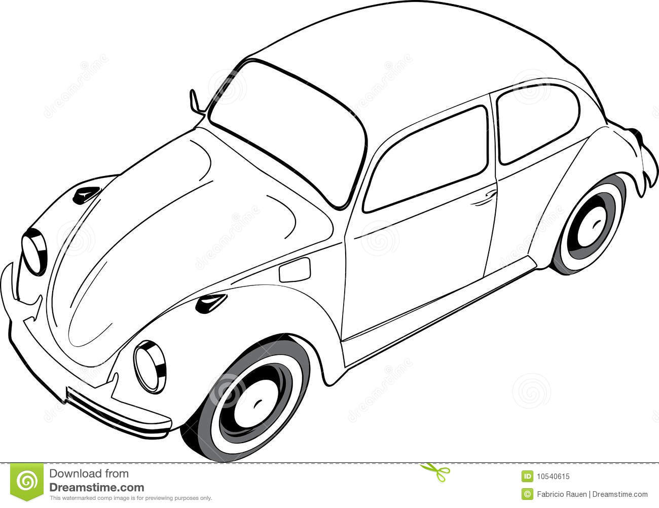 volkswagon beetle or bug stock vector  illustration of
