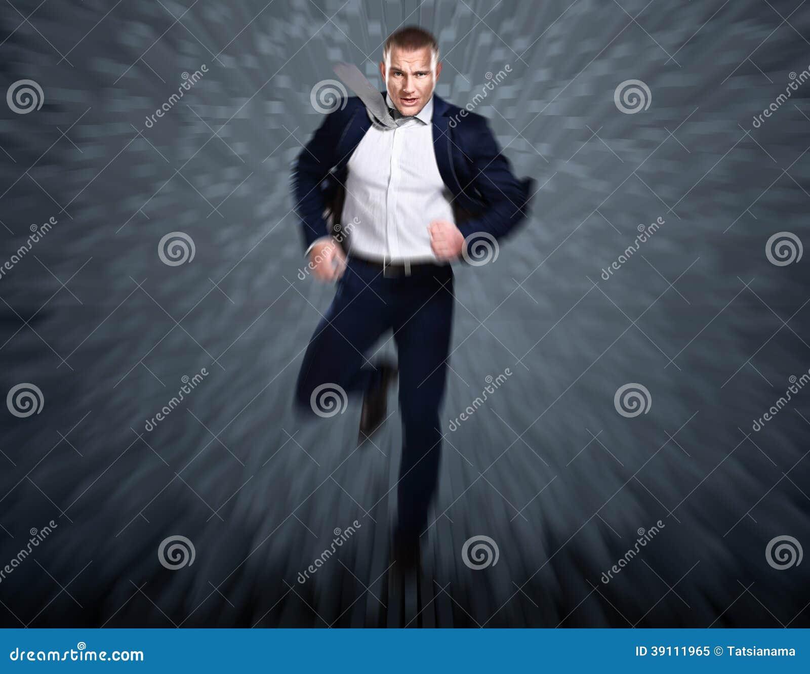 Volledig lengteportret van een zakenman