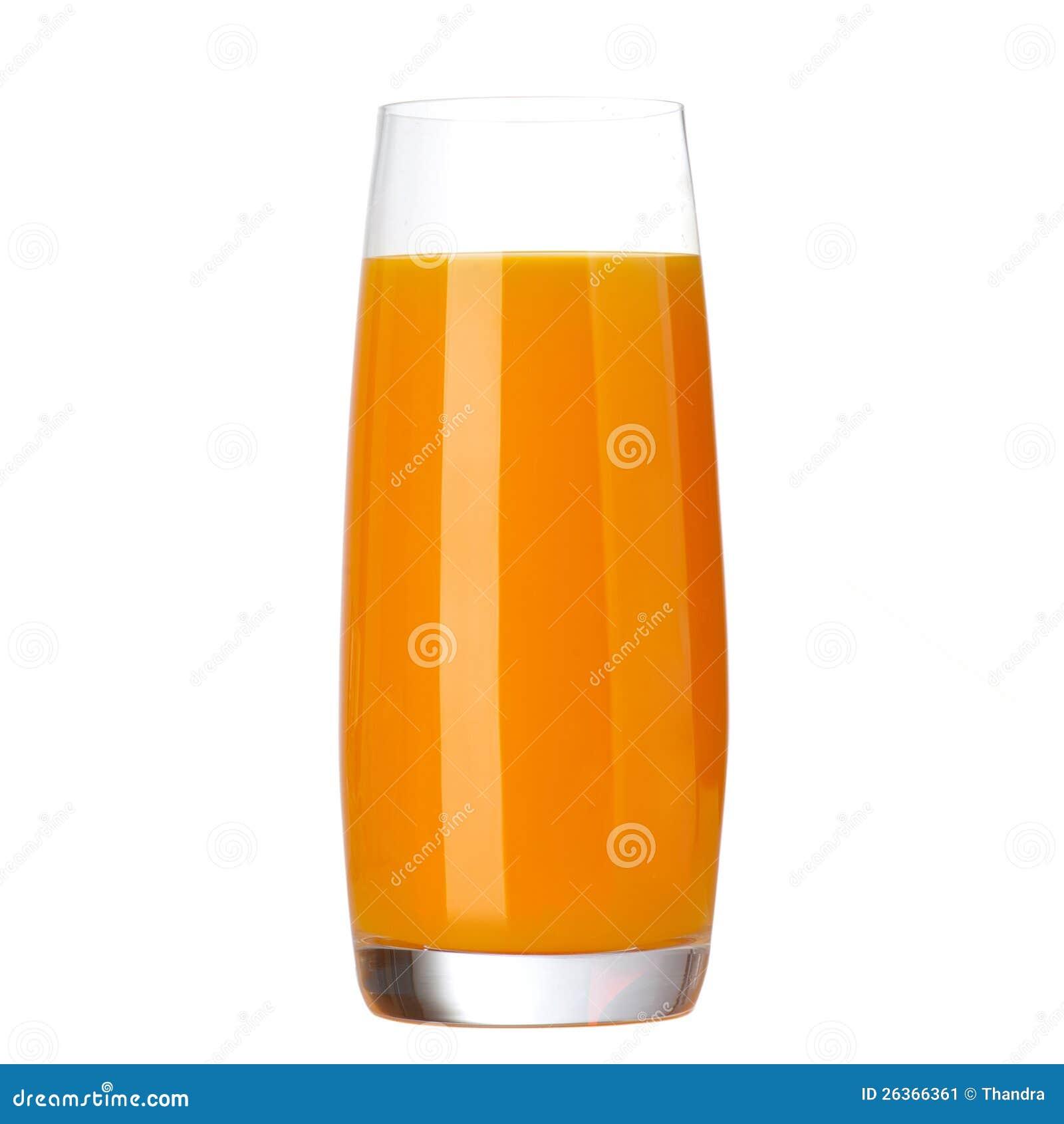 Volles Glas Orangensaft