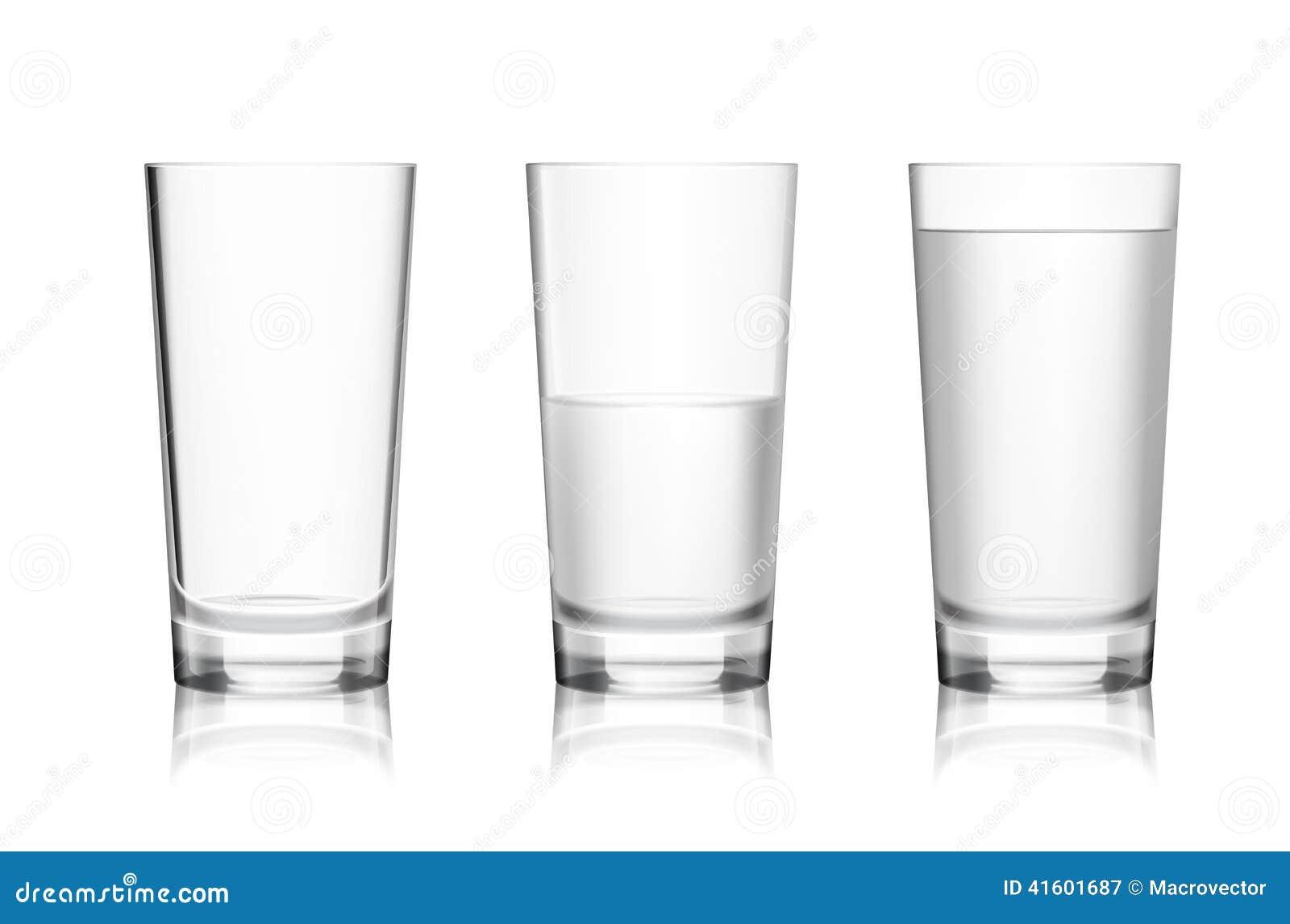 Glas leer clipart  Volles Und Leeres Glas Vektor Abbildung - Bild: 41601687