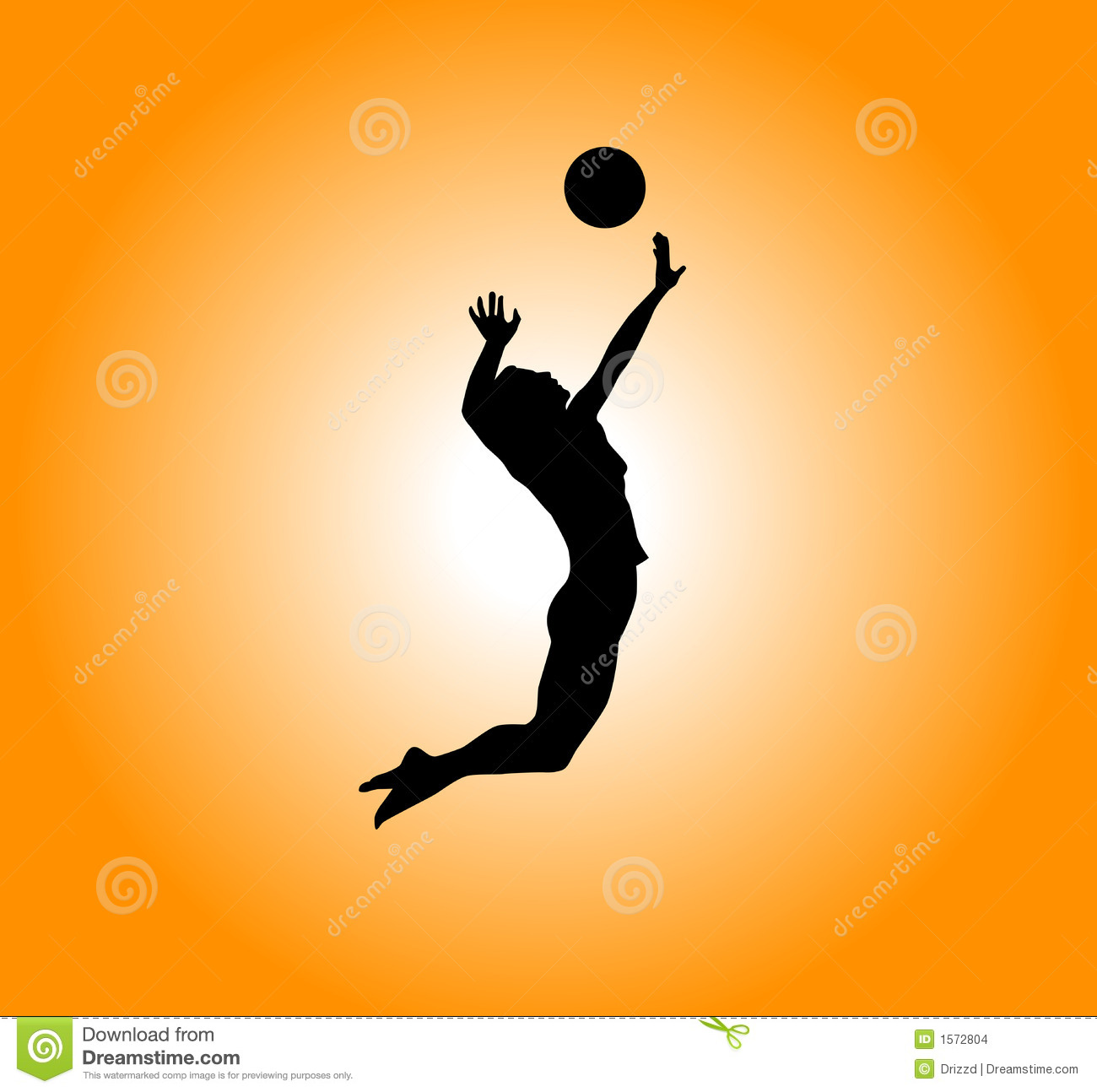 Volleyball Stock Illustration. Illustration Of