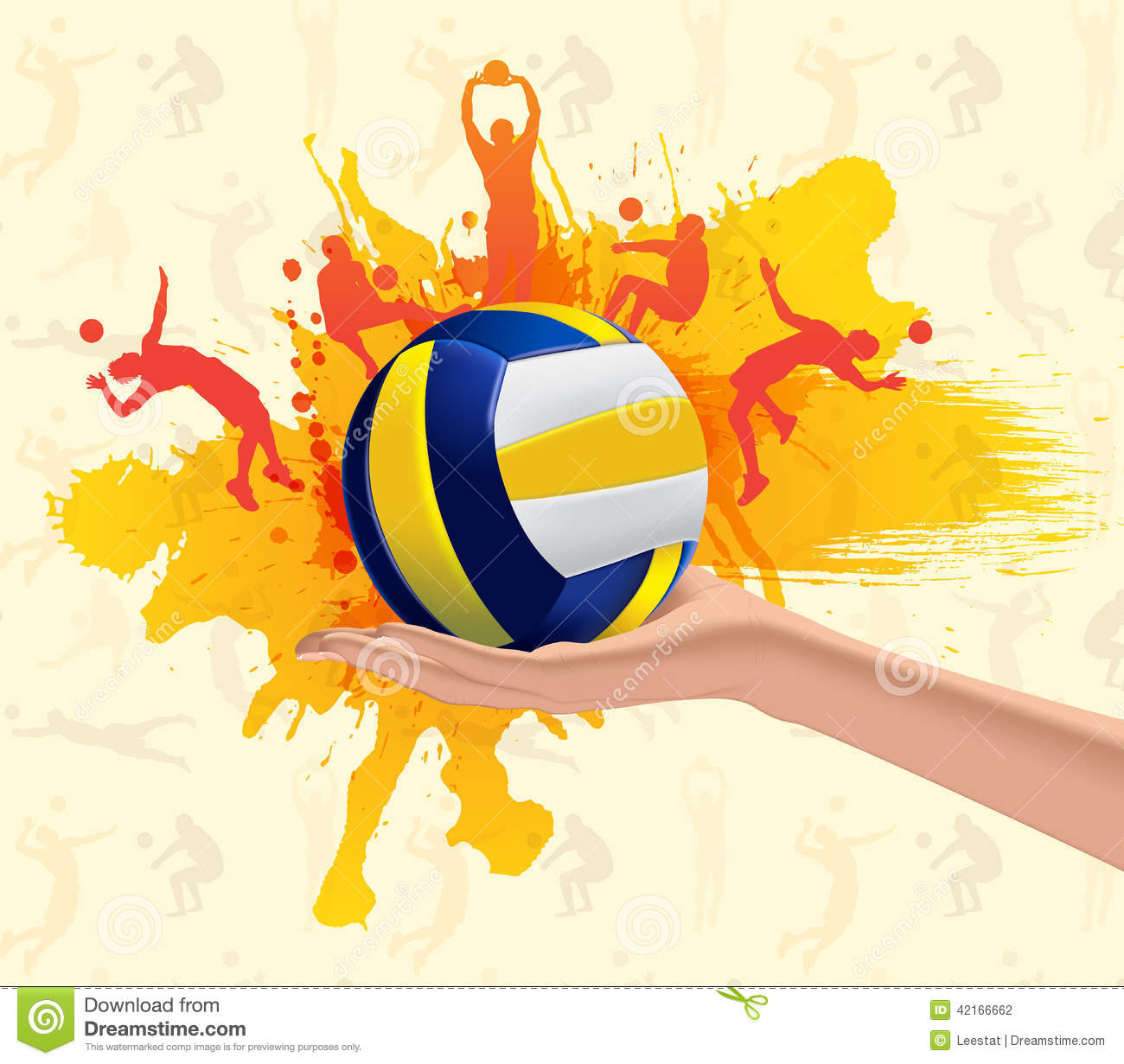 Volleyball Abstract Stock Vector. Illustration Of Cover