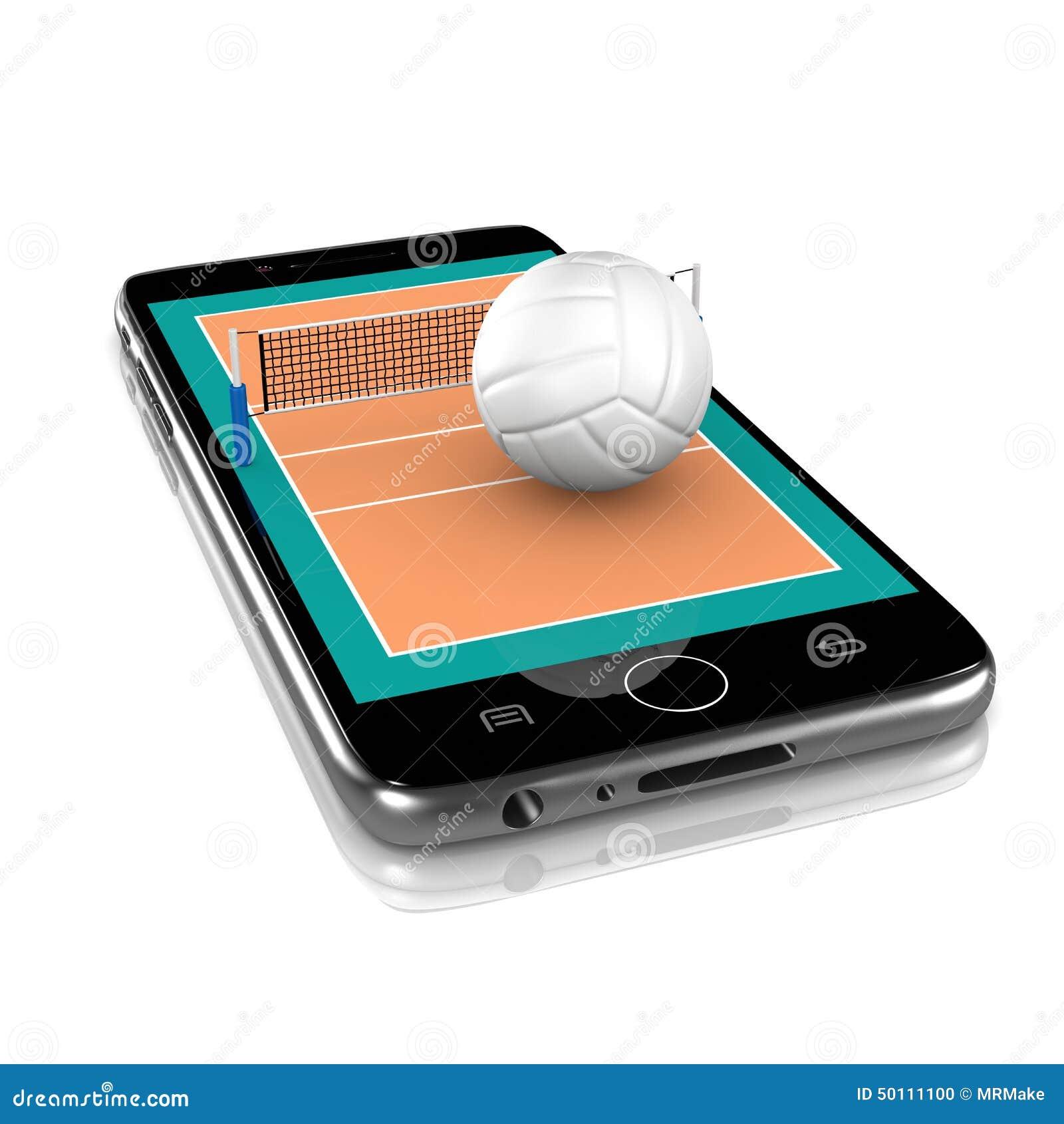 Volleyball auf Smartphone, Sport-APP