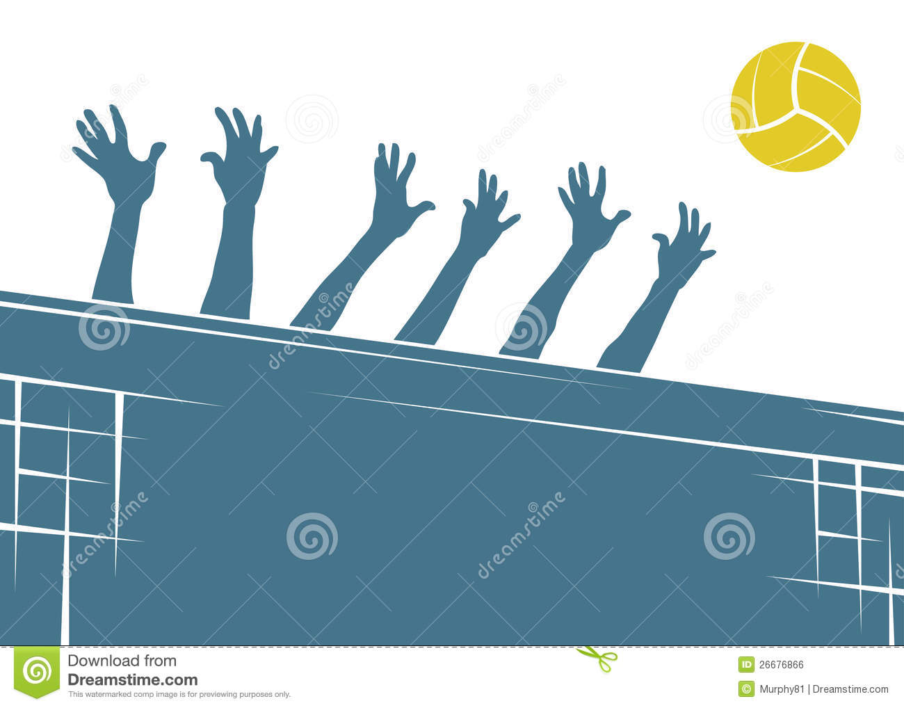 Volleyball Background Royalty Free Stock Image - Image: 26676866