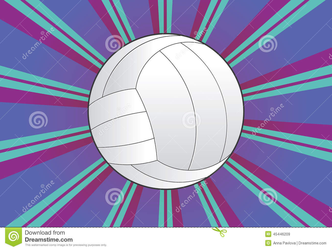 Background Abstract Sport Volleyball Blue Yellow Ball: Volleyball Ball Background Stock Vector