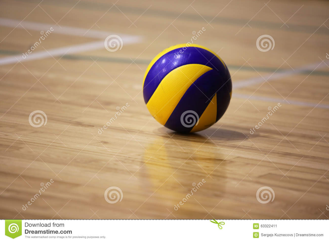 Volleyball Ball On The Floor Stock Image Image 63322411