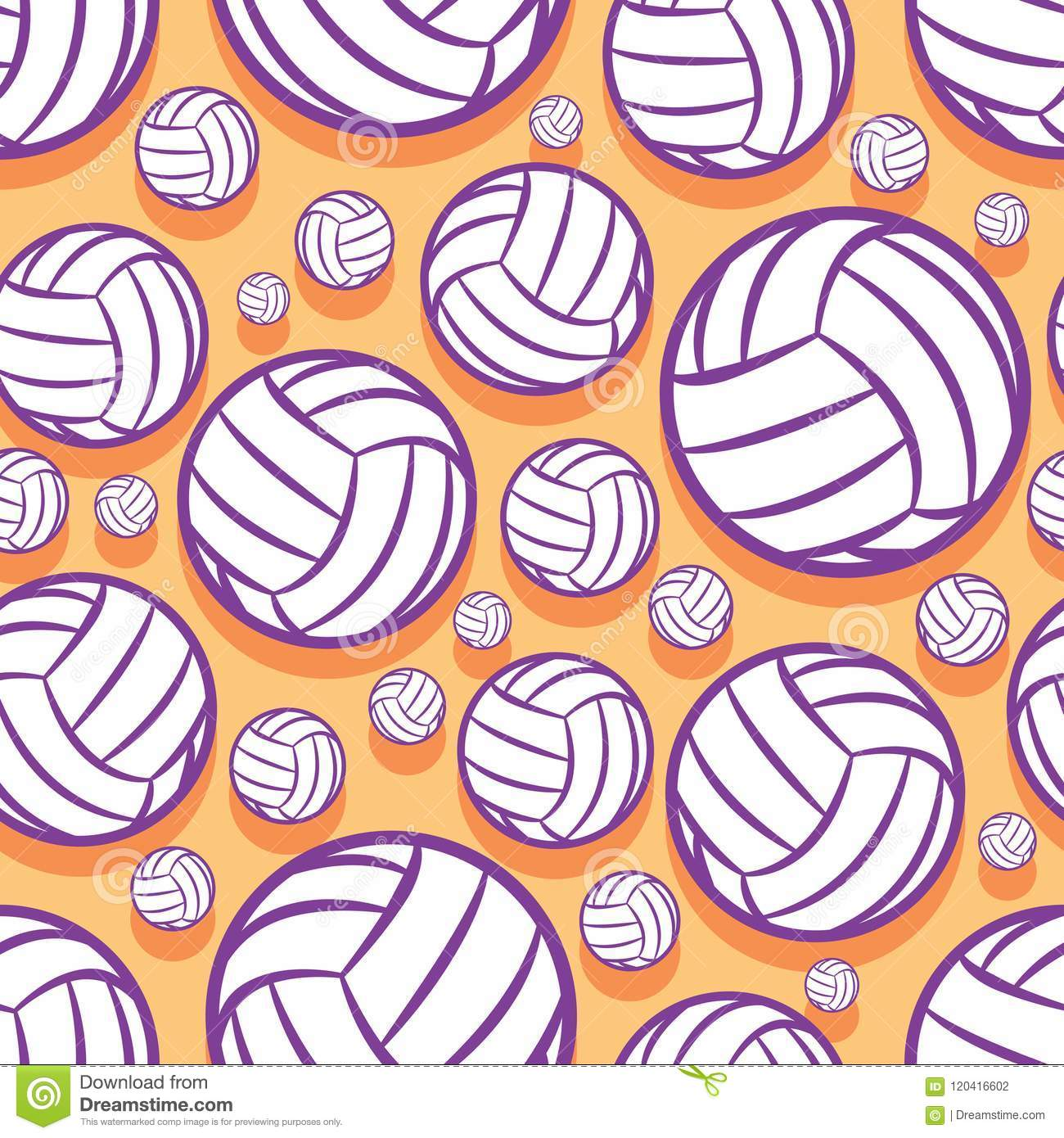 image about Volleyball Printable known as Seamless Practice With Volleyball Ball Impression. Inventory Vector
