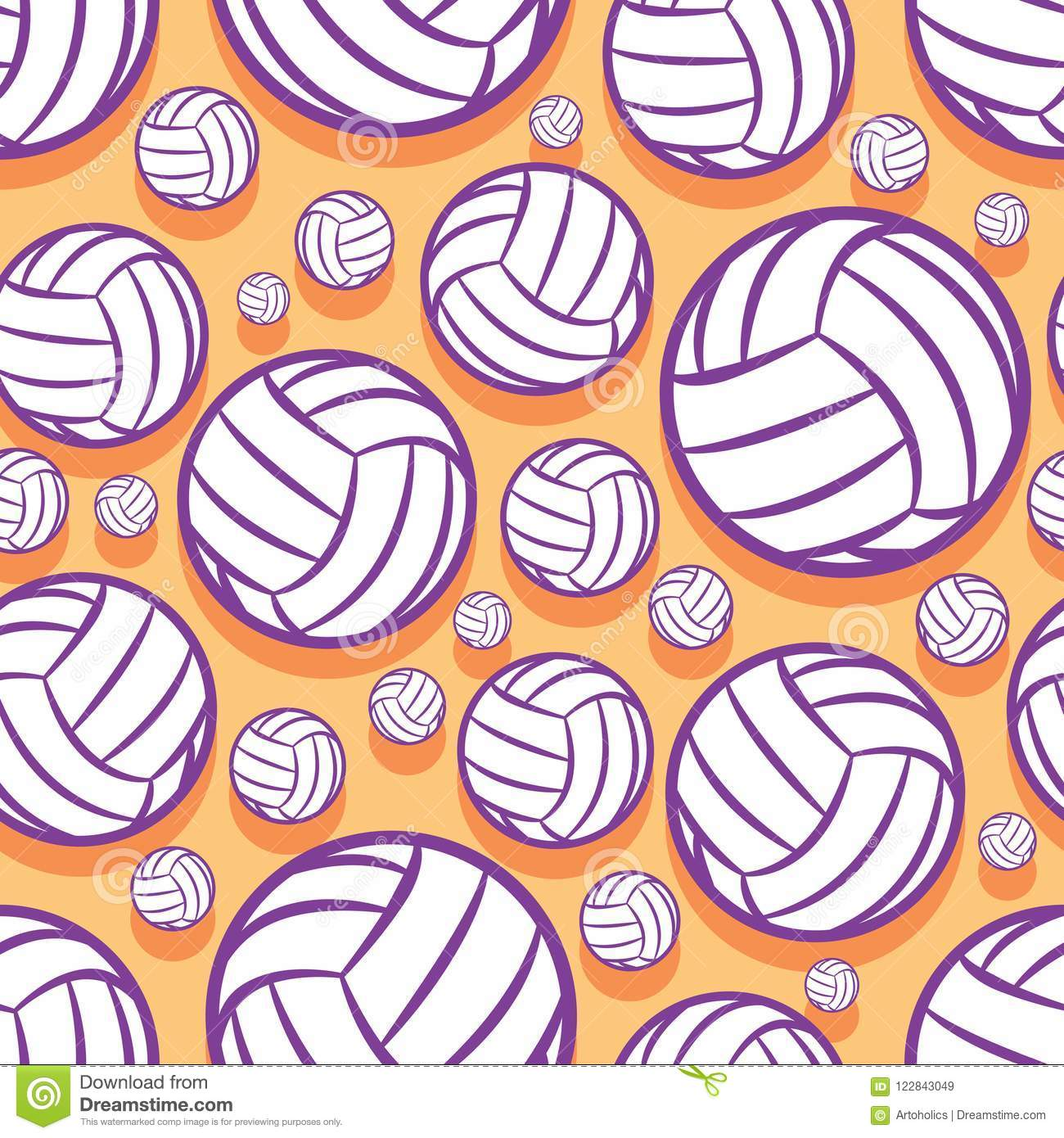 photo regarding Printable Volleyball identify Seamless Routine With Volleyball Ball Picture. Inventory Vector