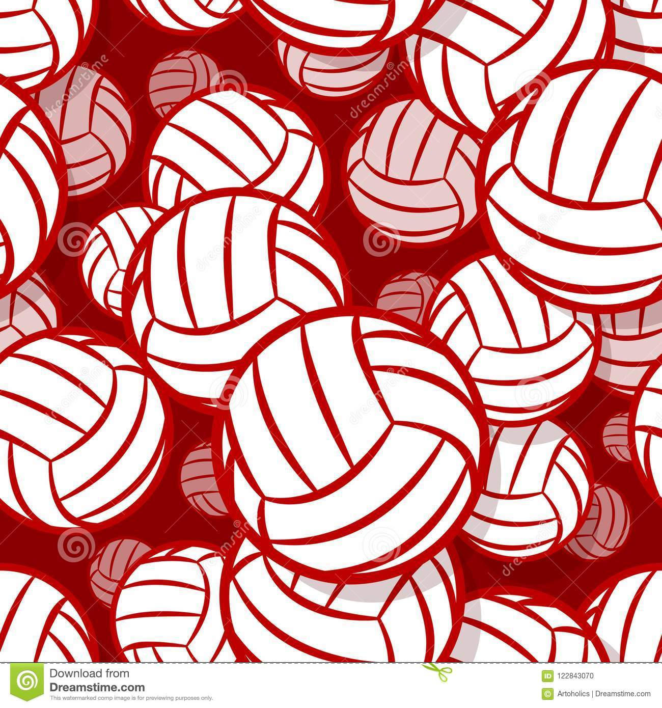 picture about Volleyball Printable identified as Seamless Practice With Volleyball Ball Image. Inventory Vector