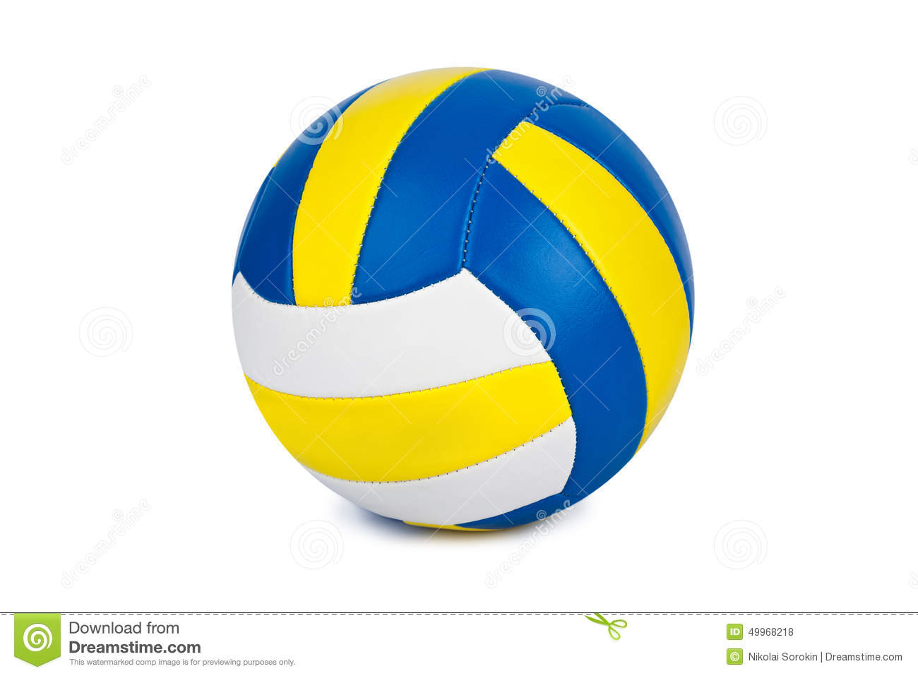Background Abstract Volleyball Blue Yellow Ball Frame: Volleyball Stock Photo
