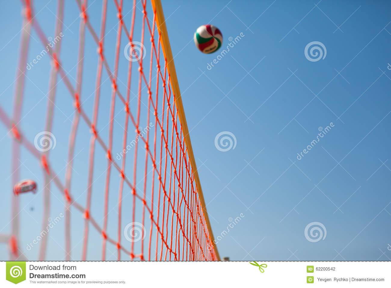 Tennis ball serve over the net stock image image of racket.