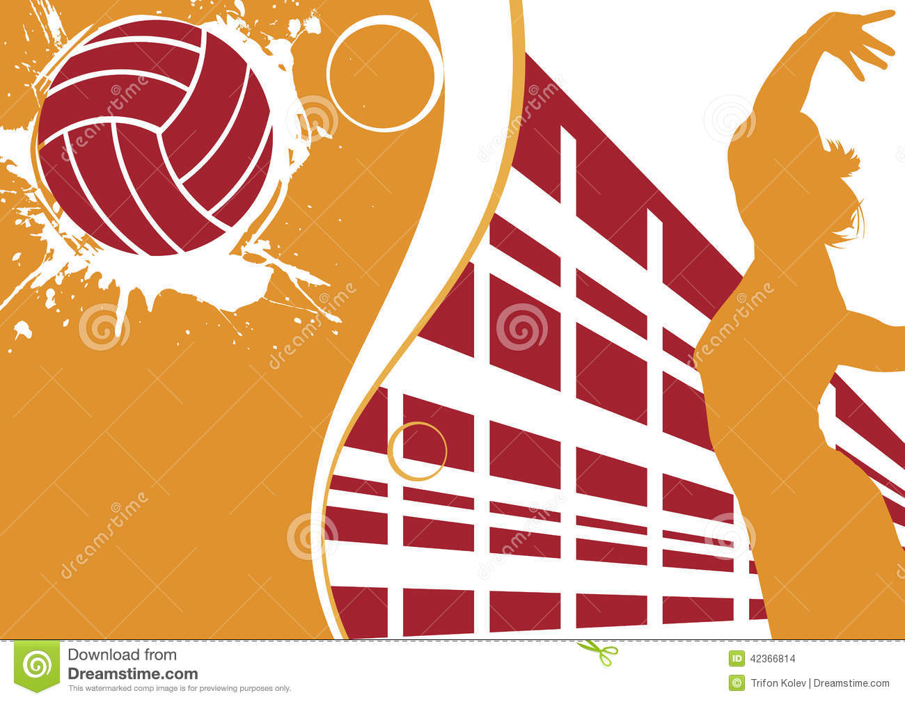 Volleyball Abstract Stock Photos Volleyball Abstract: Volleyball Banner Stock Vector