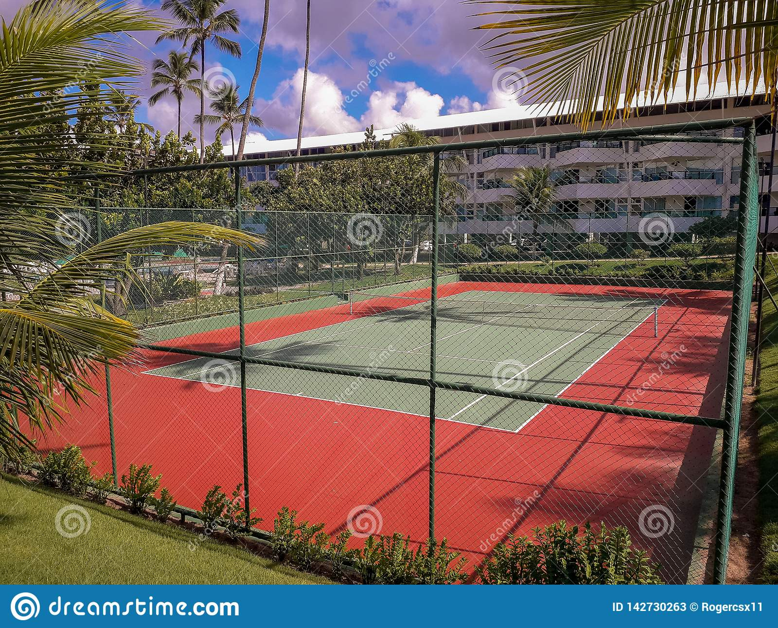Volleyball court at Flat Resort on Porto de Galinhas, Brazil