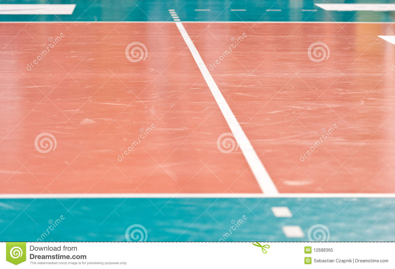 Volleyball floor
