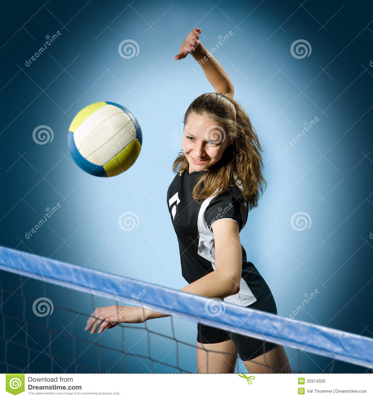 volleyball girl stock image image of athletic action 25974035