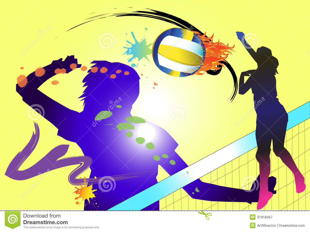 graphic image on a graphic stripes volleyball women athletes ...
