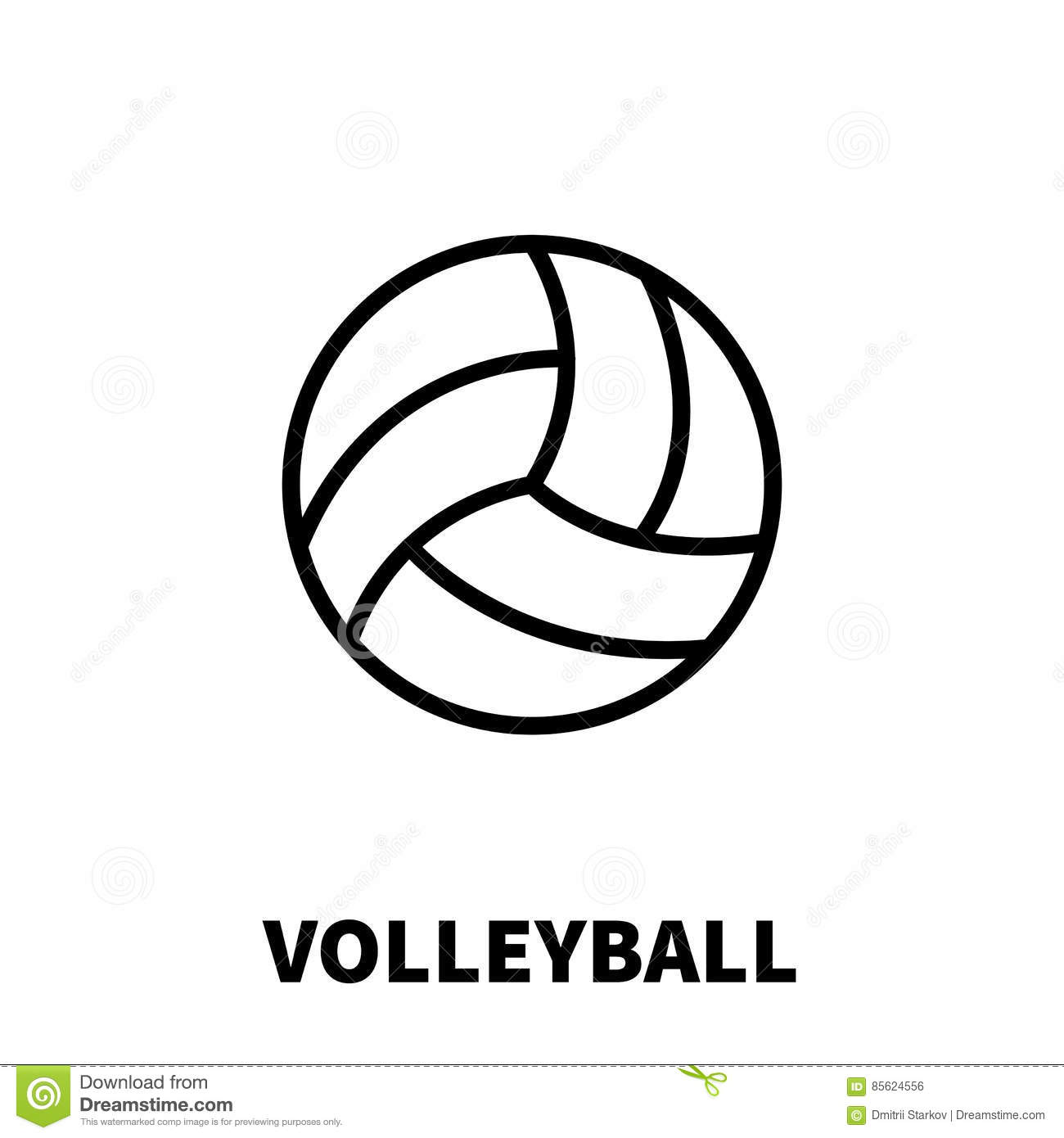 Volleyball Icon Or Logo In Modern Line Style Stock Vector Illustration Of Fitness Activity 85624556