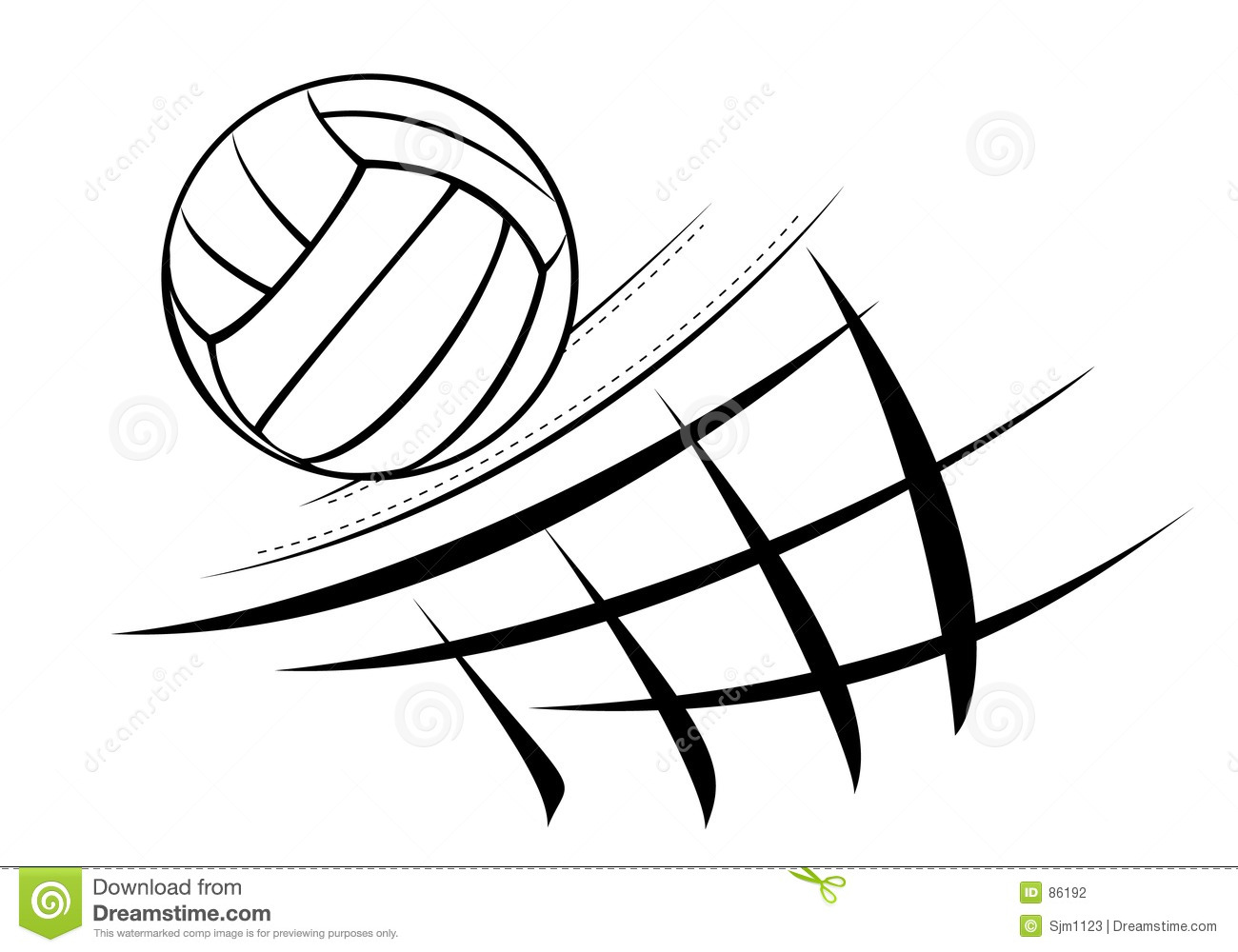 Line Drawing Net : Volleyball illustration stock vector of