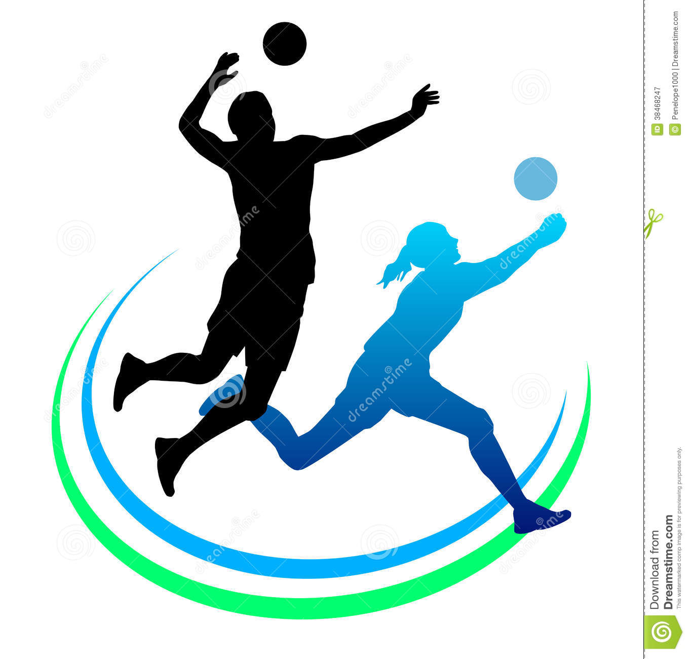 volleyball player clip art