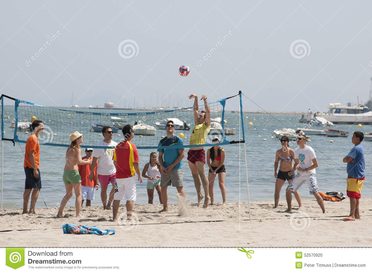 Volleyball match on the beach