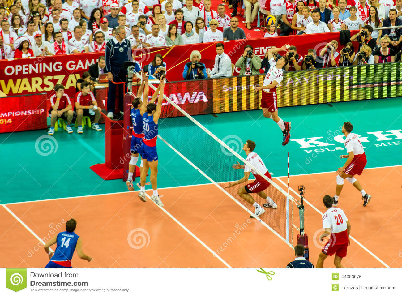 Volleyball Men s World Championship opening game Poland-Serbia, Warsaw, 30 August 2014