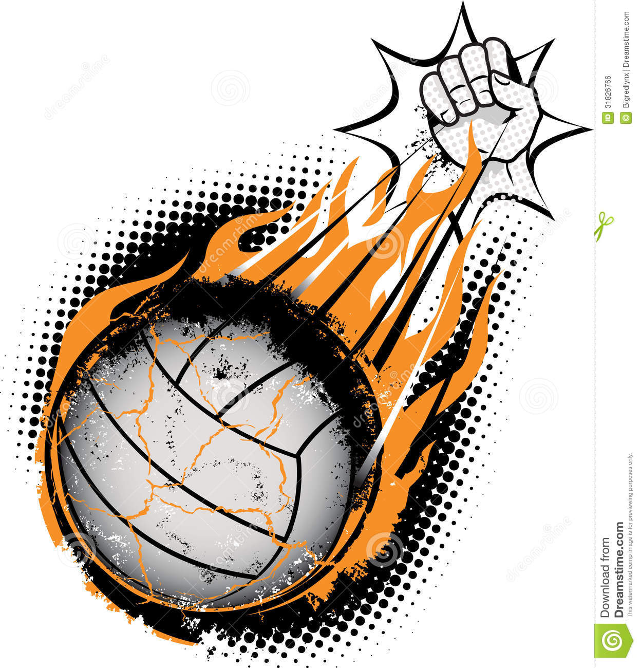 Volleyball Meteor Royalty Free Stock Image - Image: 31826766
