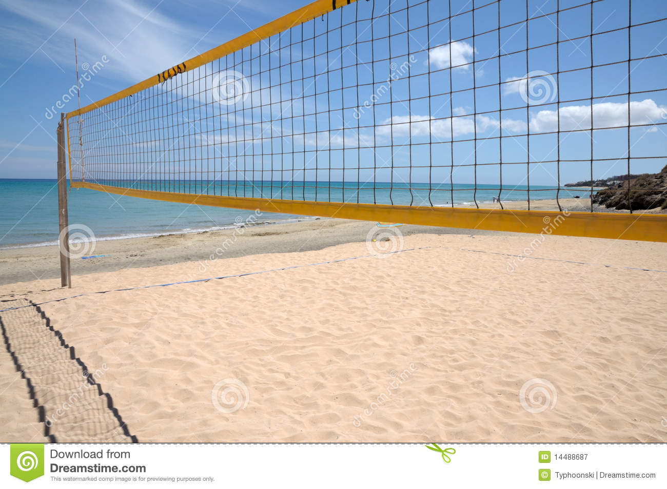 Volleyball Net Royalty Free Stock Photography - Image: 14488687