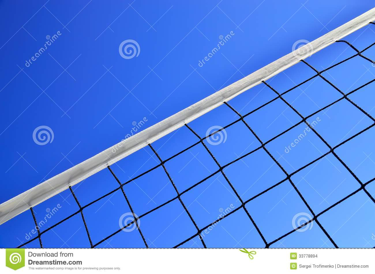 Volleyball Net Against The Blue Sky Stock Images - Image ...