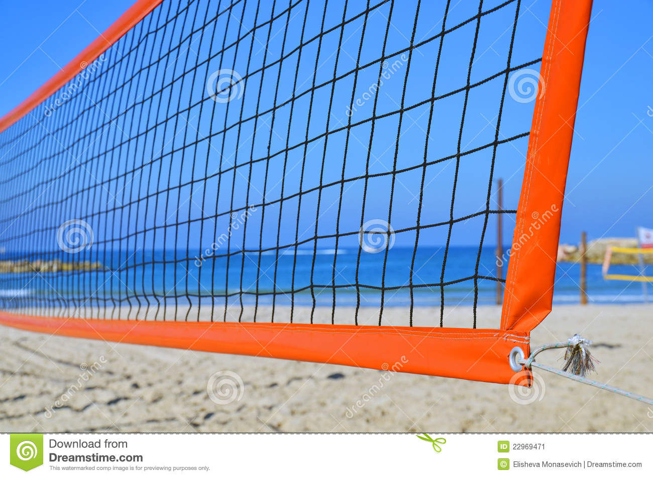 Volleyball Net On A Beach Stock Image 22969471