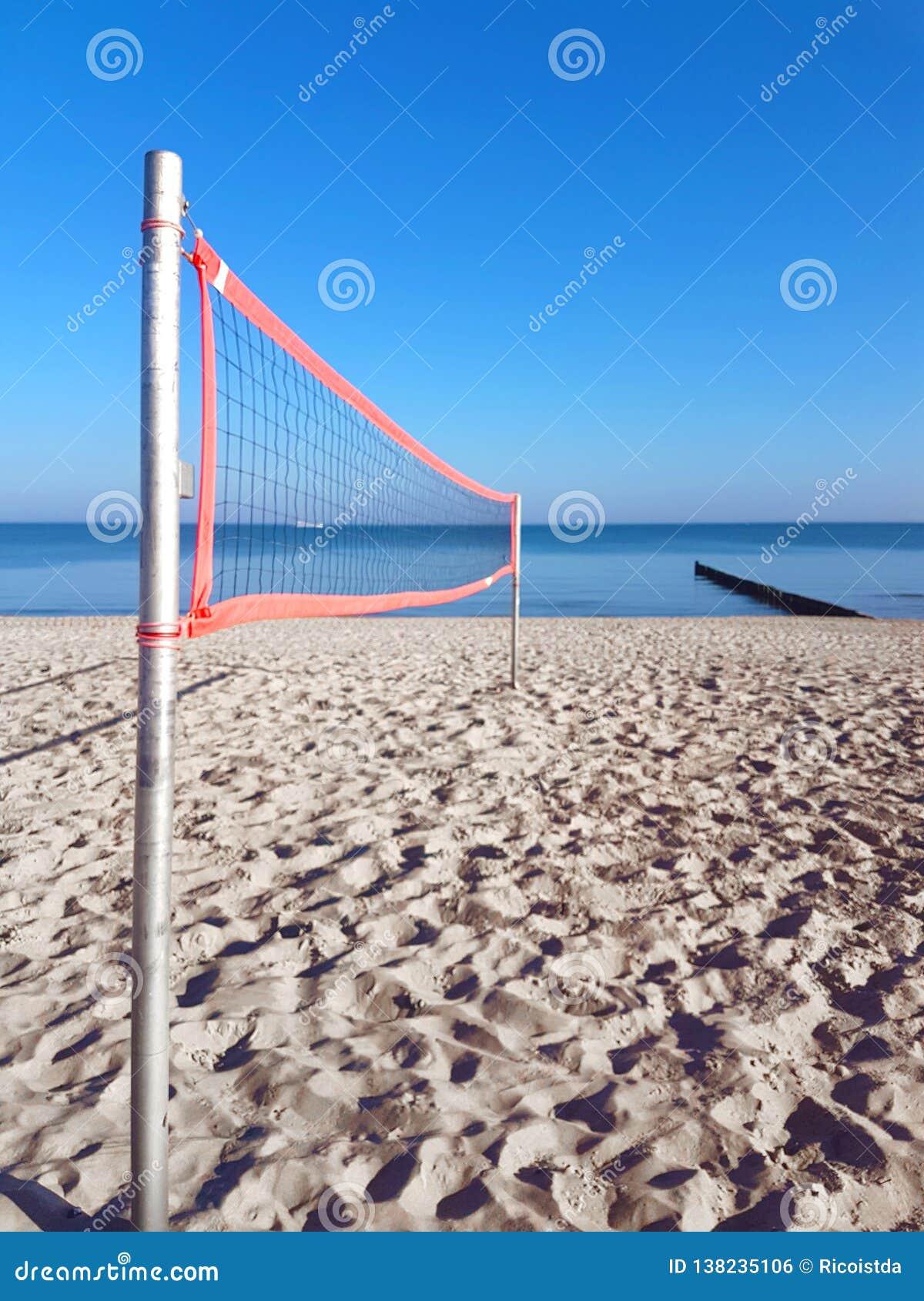 Volleyball netto op het strand