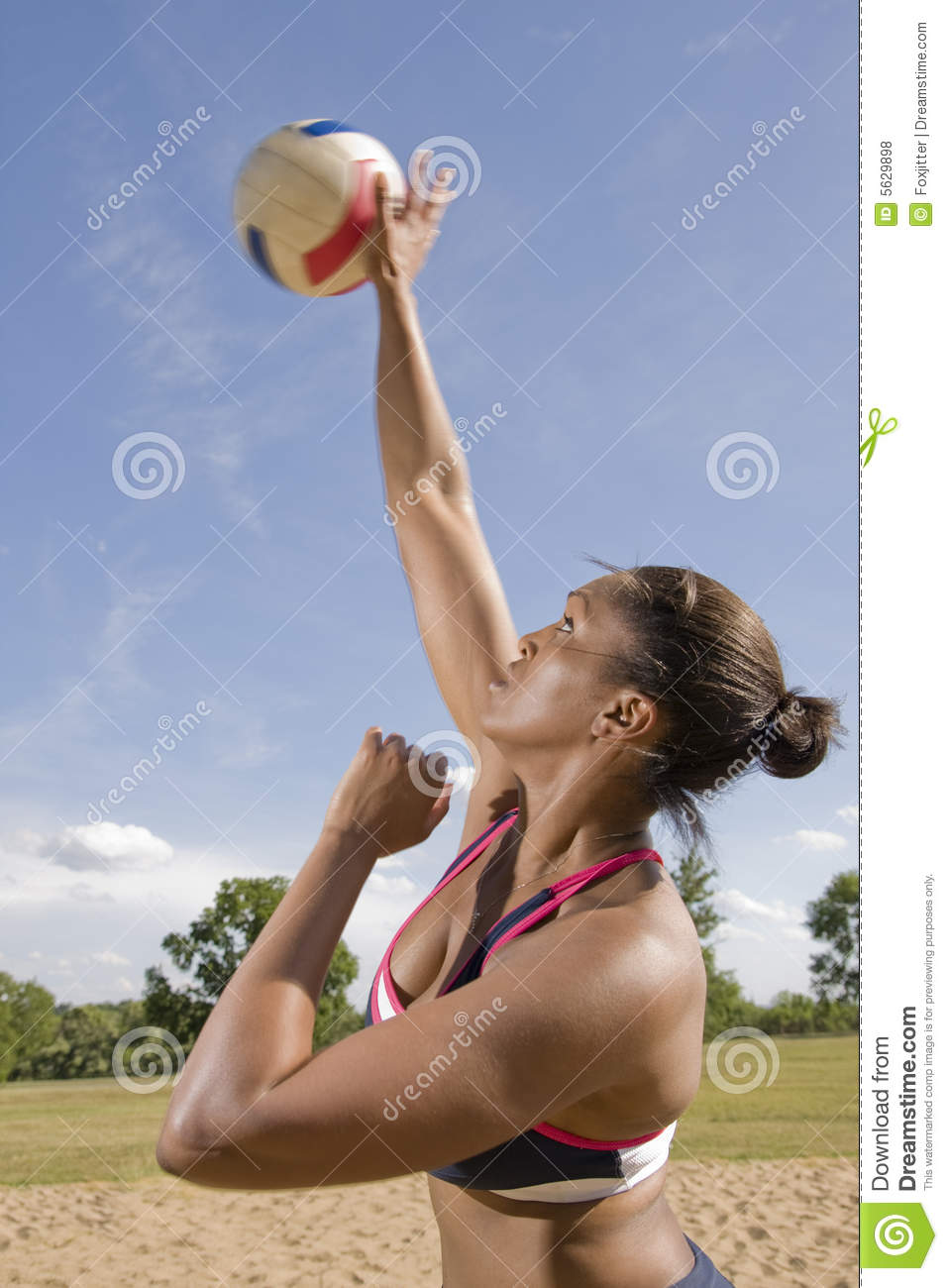 Volleyball Overhand Serve Stock Photo Image Of Court 5629898