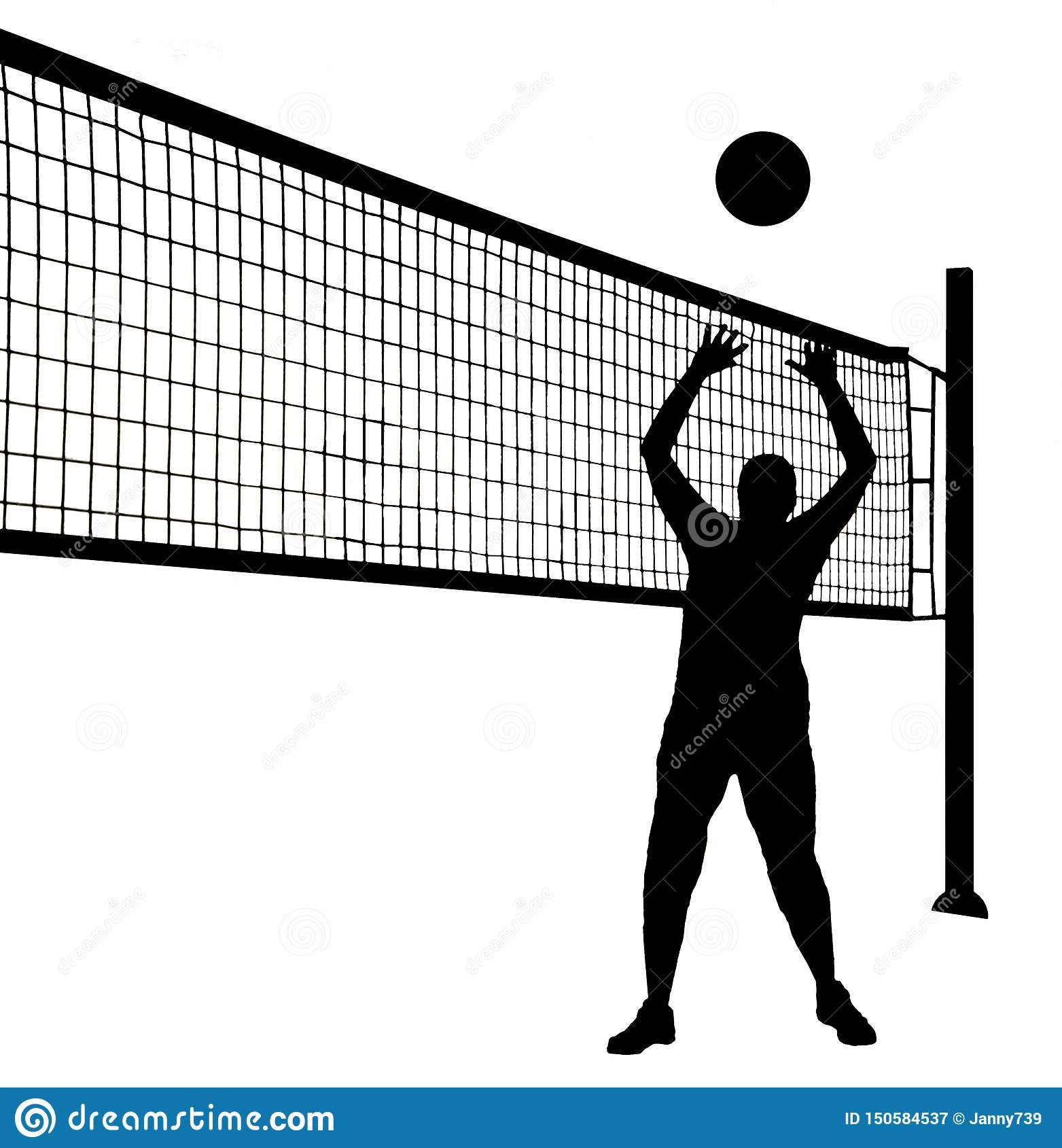 Volleyball Player Silhouette Sports Vinyl Sticker Car Decal