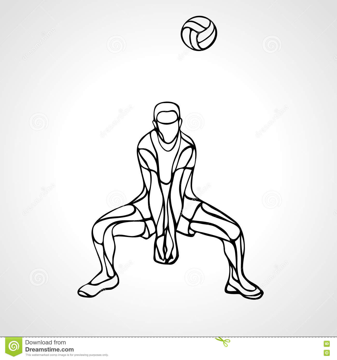 Volleyball Dig Stock Illustrations 207 Volleyball Dig Stock Illustrations Vectors Clipart Dreamstime