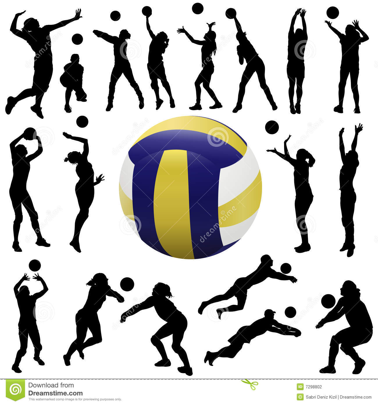 volleyball setting clipart - photo #7