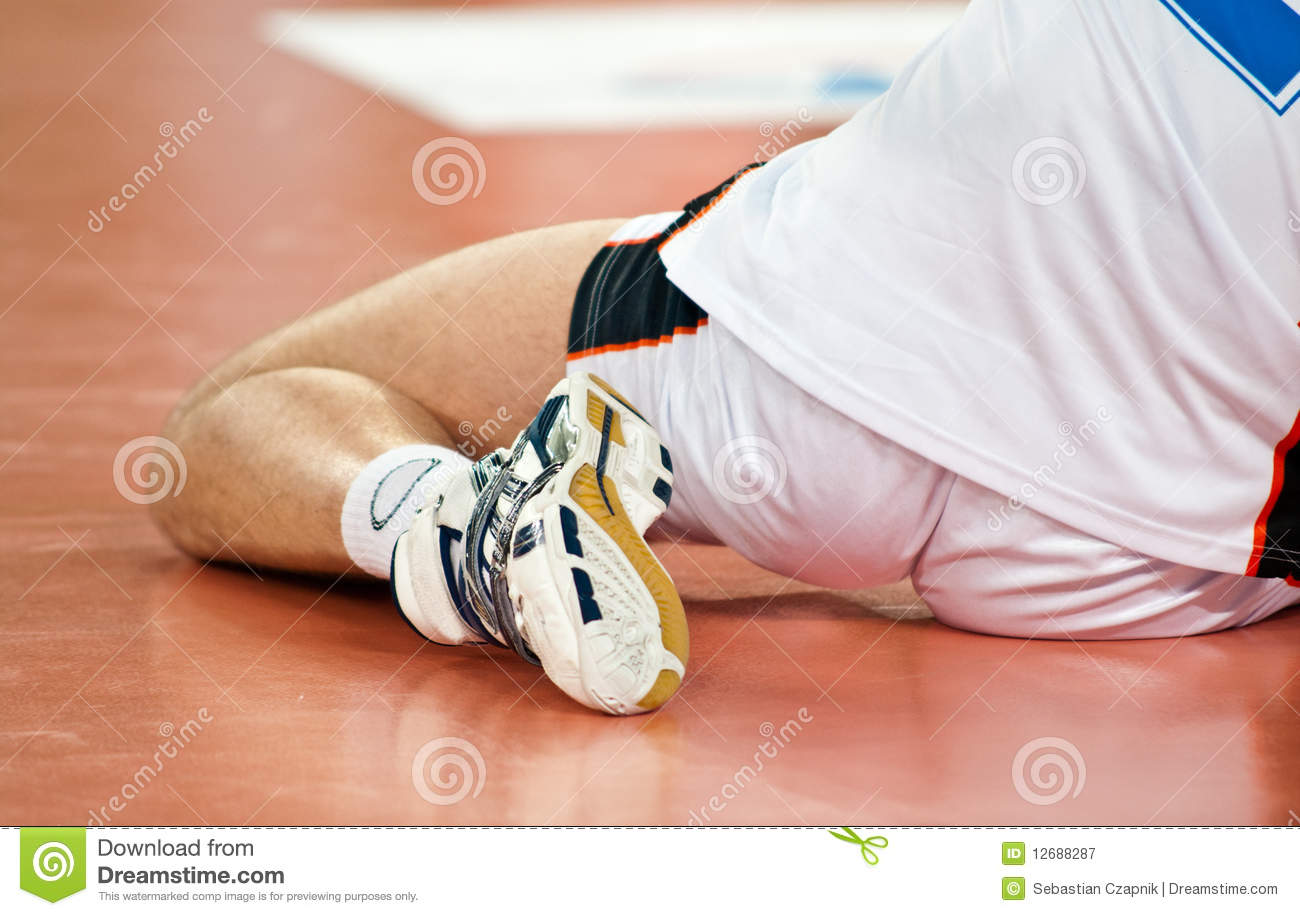 Volleyball Player Warm Up Stock Image Image Of Indoors