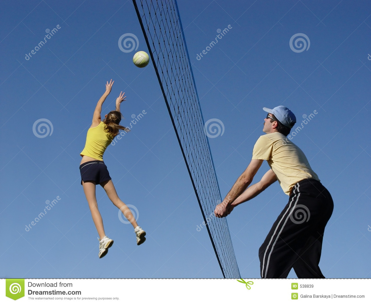 Active Young Women Volleyball Player Sport Stock Vector: Volleyball Players Royalty Free Stock Images